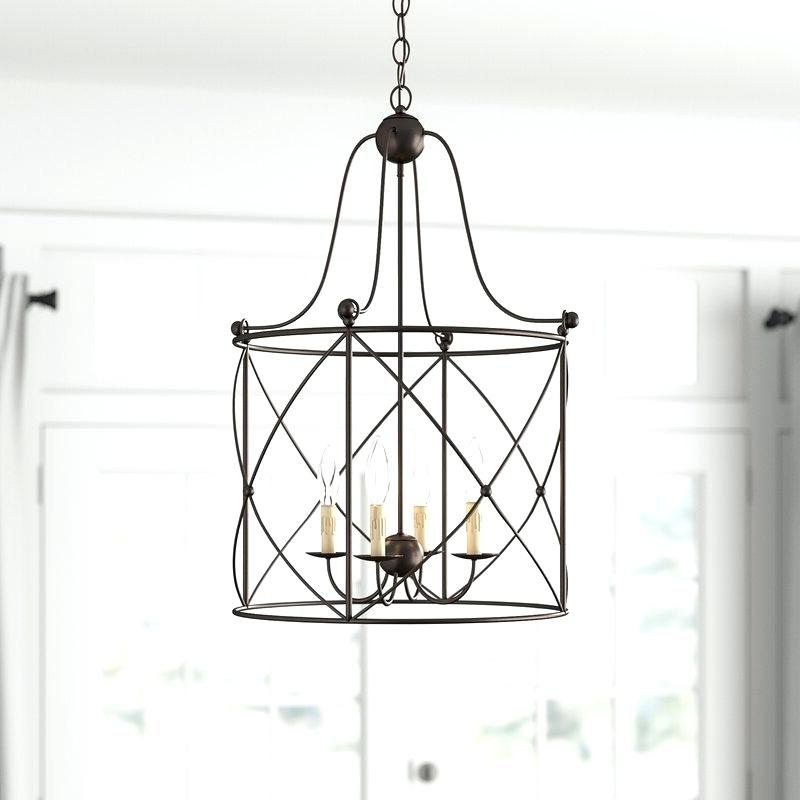2019 Odie 4 Light Foyer Pendant – Odiliazullo (View 2 of 30)