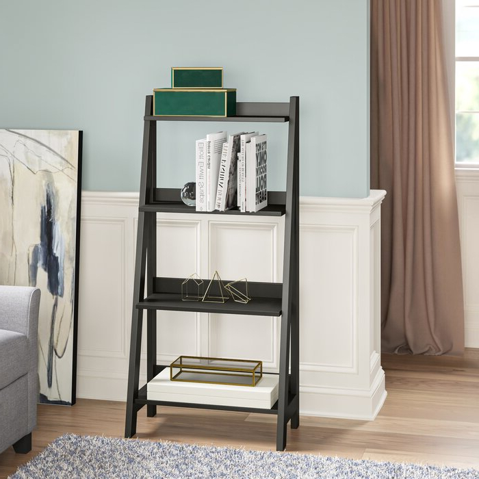 2019 Riddleville Ladder Bookcase Throughout Averett Ladder Bookcases (View 1 of 20)