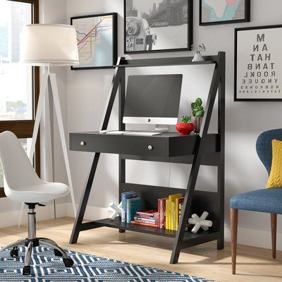 2019 Riddleville Ladder Bookcases With Regard To Three Posts Riddleville Other Leaning/ladder Desk Finish (View 1 of 20)