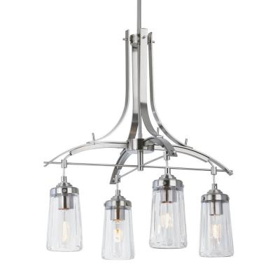 2019 Sea Gull Lighting Ellis Harper 4 Light Brushed Nickel Inside Hewitt 4 Light Square Chandeliers (View 12 of 30)