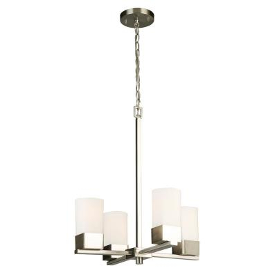2019 Sea Gull Lighting Ellis Harper 4 Light Brushed Nickel With Hewitt 4 Light Square Chandeliers (View 18 of 30)