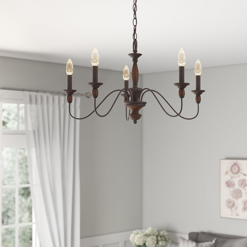 2019 Shaylee 5 Light Candle Style Chandeliers With Sarah 5 Light Candle Style Chandelier (Gallery 14 of 30)