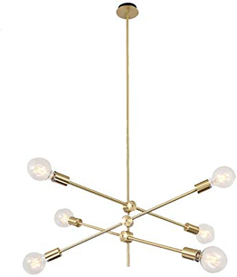 2019 Silvia 6 Light Sputnik Chandeliers Intended For Amazon: Bonlicht Modern Sputnik Chandelier Lighting  (View 2 of 30)