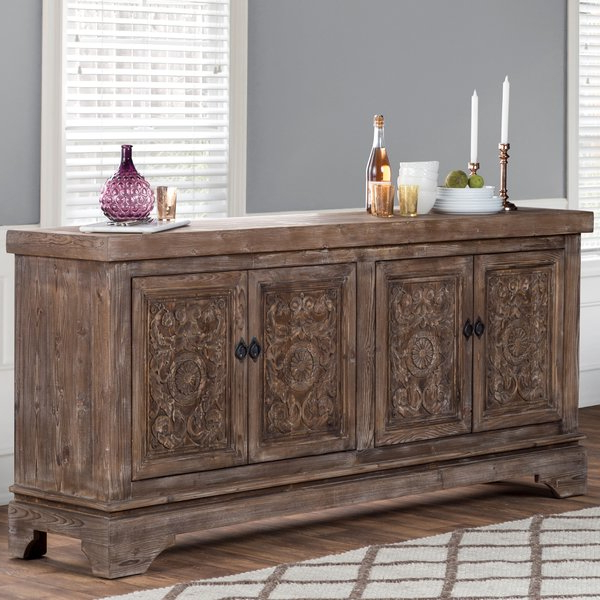 2019 Steinhatchee Reclaimed Pine 4 Door Sideboards Within Steinhatchee Reclaimed Pine 4 Door Sideboard (View 1 of 20)