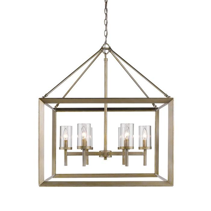2019 Thorne 6 Light Lantern Square / Rectangle Pendants Pertaining To Thorne 6 Light Lantern Square / Rectangle Pendant (Gallery 11 of 30)