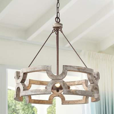 2019 Union Rustic 3 Light Drum Chandelier Union Rustic Within Everett 10 Light Sputnik Chandeliers (Gallery 28 of 30)
