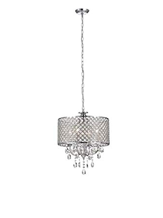 2020 Aurore 4 Light Crystal Chandeliers With Fabulous Aurore 4  Light Led Drum Chandelier, Plastic (View 1 of 30)