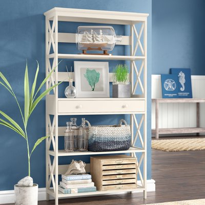 2020 Beachcrest Home Gracelynn 5 Tier Etagere Bookcase & Reviews For Gracelynn 5 Tier Etagere Bookcases (View 1 of 20)