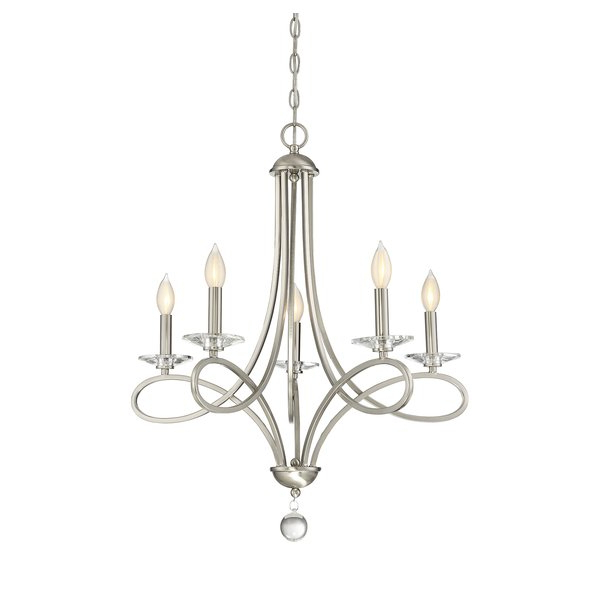 2020 Berger 5 Light Candle Style Chandeliers Intended For Berger 5 Light Candle Style Chandelier (Gallery 2 of 30)