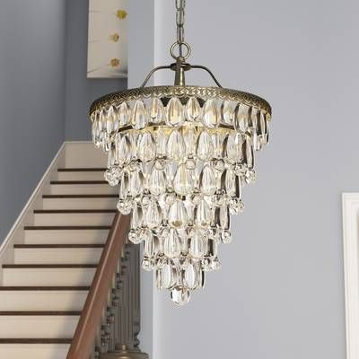 2020 Clea 3 Light Crystal Chandelier (View 7 of 30)
