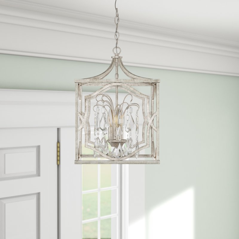 2020 Destrey 3 Light Lantern Square/rectangle Pendants Within Destrey 3 Light Lantern Pendant (Gallery 8 of 30)