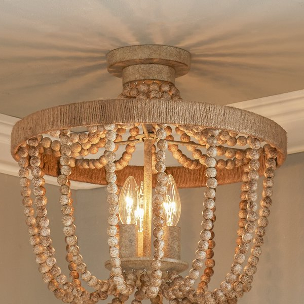 2020 Duron 3 Light Semi Flush Mount Within Duron 5 Light Empire Chandeliers (View 2 of 30)
