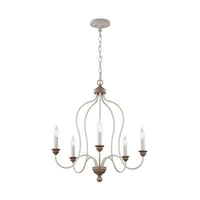2020 Farmhouse – Chandeliers – Lighting – The Home Depot With Kenna 5 Light Empire Chandeliers (Gallery 30 of 30)