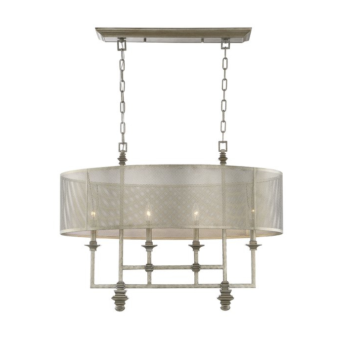 2020 Freeburg 4 Light Lantern Square / Rectangle Pendants Pertaining To Freeburg 4 Light Chandelier (View 1 of 30)