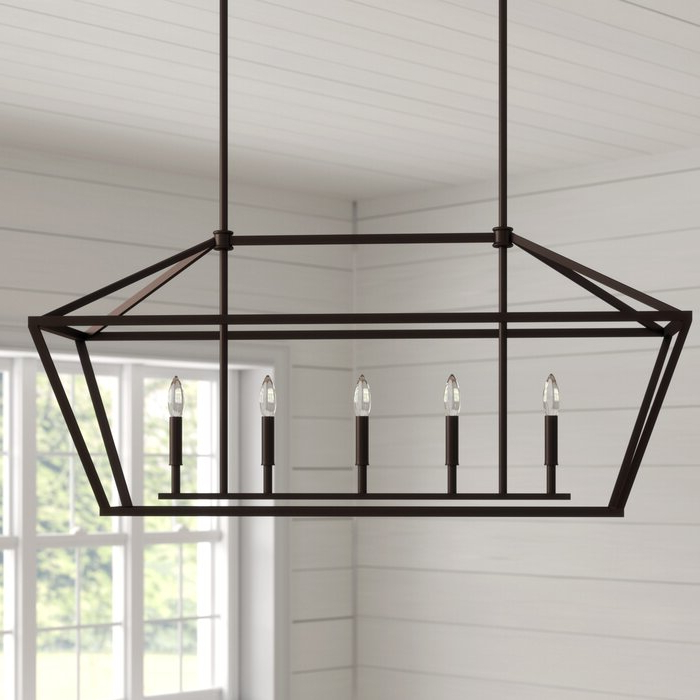 2020 Freemont 5 Light Kitchen Island Linear Chandeliers For Freemont 5 Light Kitchen Island Linear Chandelier (Gallery 7 of 30)