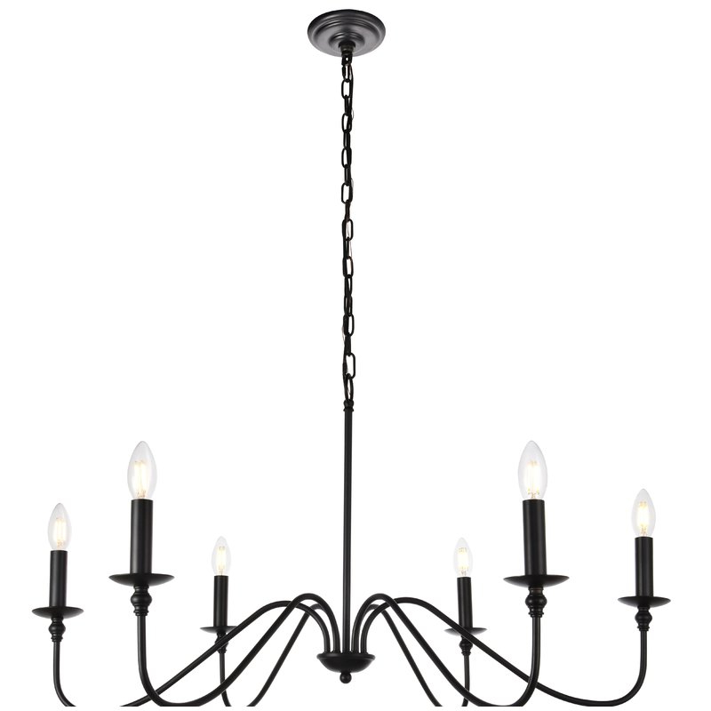 2020 Hamza 6 Light Candle Style Chandelier With Diaz 6 Light Candle Style Chandeliers (Gallery 6 of 30)