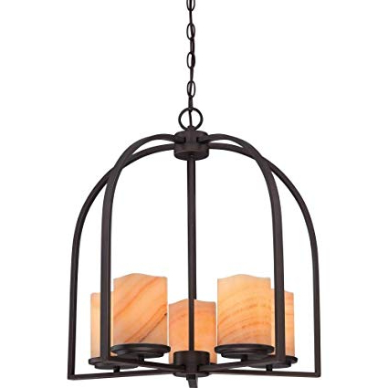 2020 Quoizel Ckad5005pn Aldora With Palladian Bronze Finish, Chandelier And 5 Lights, Brown Throughout Aldora 4 Light Candle Style Chandeliers (View 13 of 30)