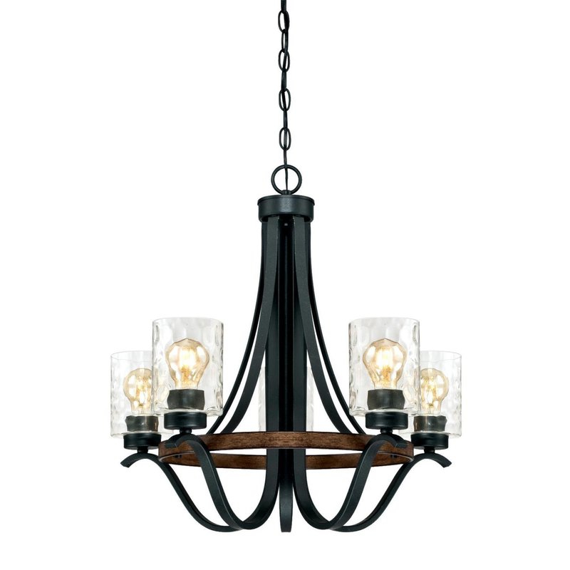 2020 Sabo Indoor 5 Light Shaded Chandelier Throughout Crofoot 5 Light Shaded Chandeliers (Gallery 7 of 30)