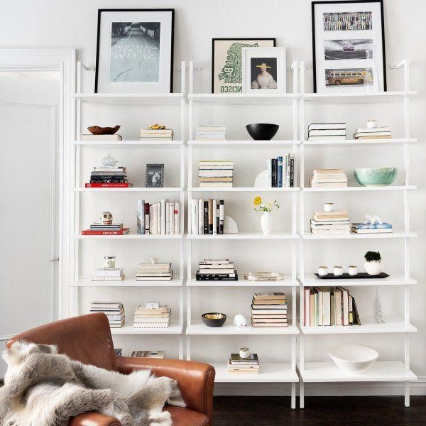 2020 Stairway White Ladder Bookcase + Reviews (View 17 of 20)
