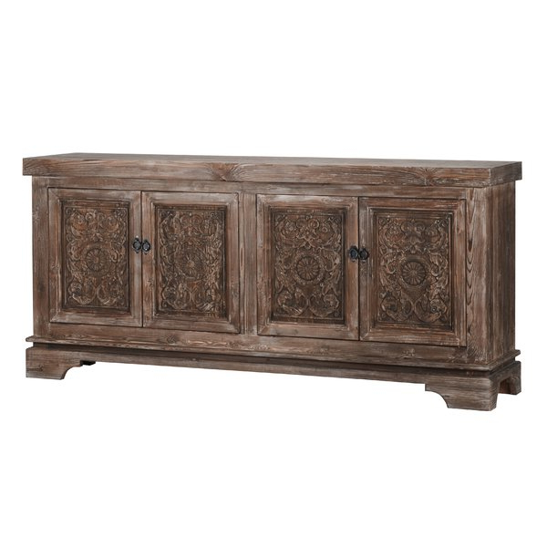 2020 Steinhatchee Reclaimed Pine 4 Door Sideboard Pertaining To Steinhatchee Reclaimed Pine 4 Door Sideboards (View 2 of 20)