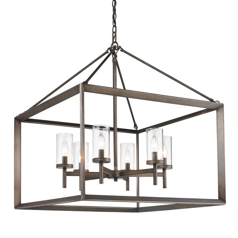 2020 Thorne 6 Light Lantern Square / Rectangle Pendant For Thorne 4 Light Lantern Rectangle Pendants (Gallery 23 of 30)
