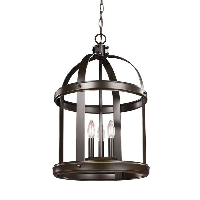 3 Light Lantern Cylinder Pendants Regarding Most Current Pawling 3 Light Lantern Cylinder Pendant (View 5 of 30)