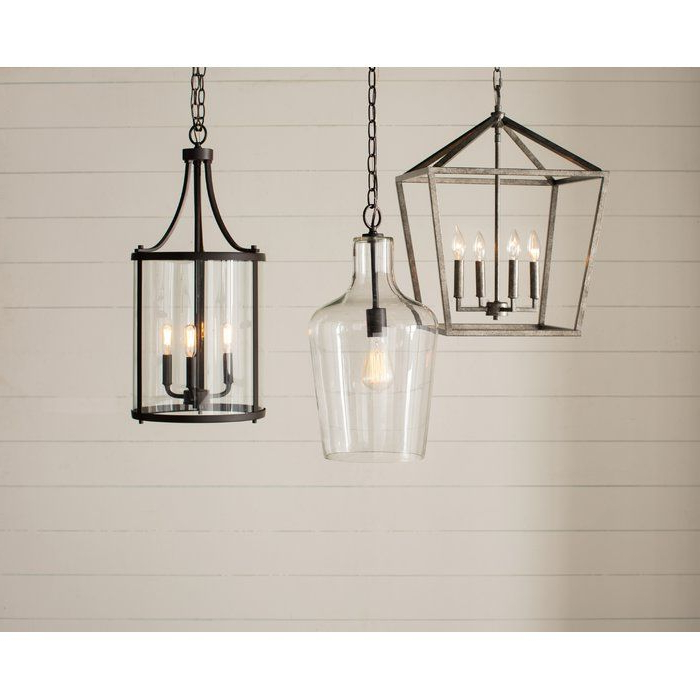3 Light Lantern Cylinder Pendants Regarding Trendy 3 Light Lantern Cylinder Pendant In  (View 6 of 30)