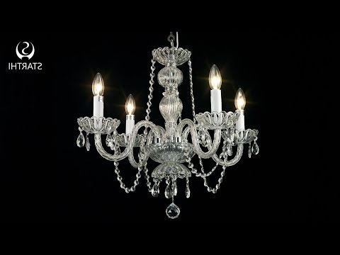 4 Light Crystal Chandelier Assembling And Installation Video Regarding 2019 Von 4 Light Crystal Chandeliers (View 20 of 30)