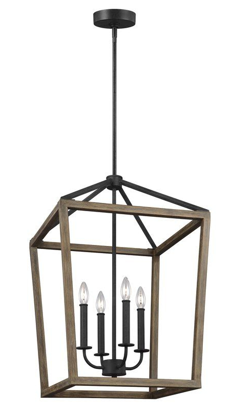4 Light Lantern Square / Rectangle Pendant In 2019 In Latest Odie 4 Light Lantern Square Pendants (Gallery 13 of 30)