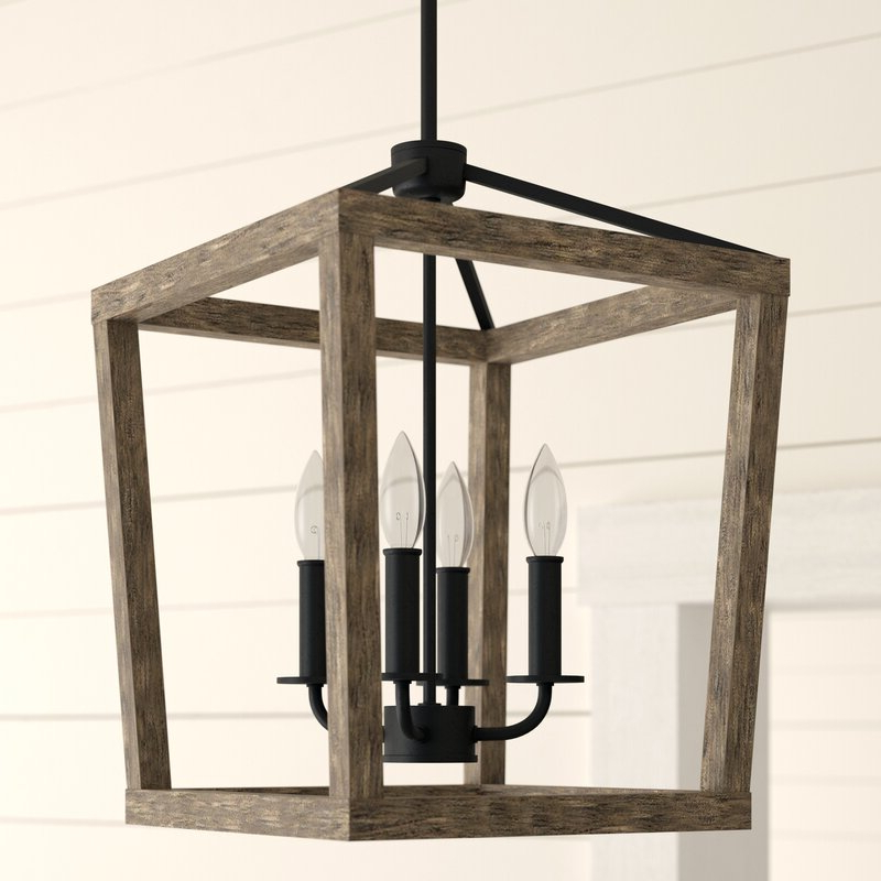 4 Light Lantern Square / Rectangle Pendants Pertaining To Most Recent 4 Light Lantern Square / Rectangle Pendant (Gallery 4 of 30)