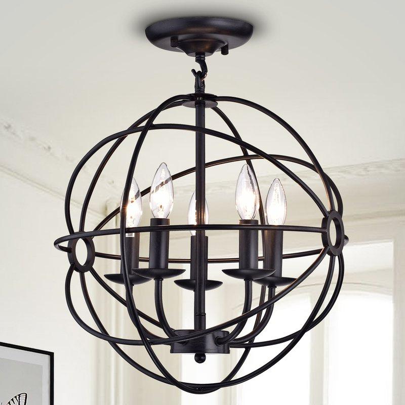 5 Light Globe Chandelier With Regard To Popular Hendry 4 Light Globe Chandeliers (Gallery 21 of 30)