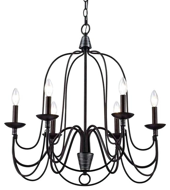 6 Candle Chandelier – Alesport (View 25 of 30)