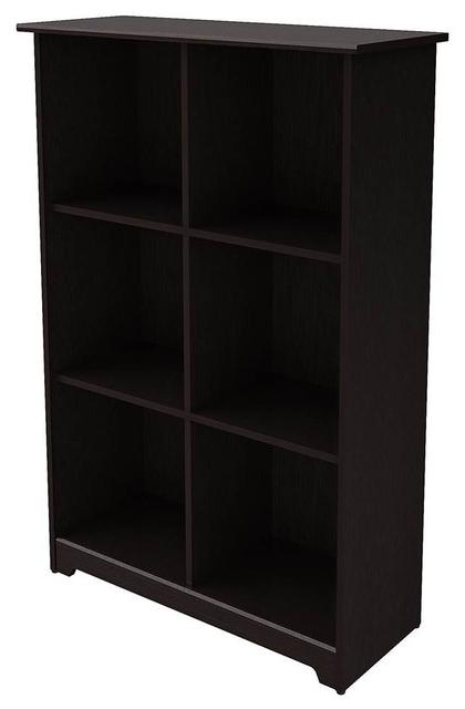 6 Cube Bookcase, Espresso Oak For Most Popular Narrow Profile Standard Cube Bookcases (Gallery 13 of 20)