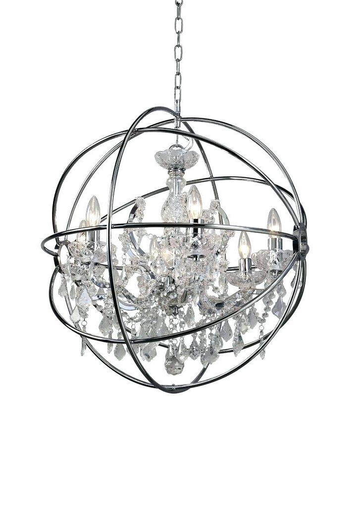 6 Light Globe Chandelier – Luwalcott (View 4 of 30)