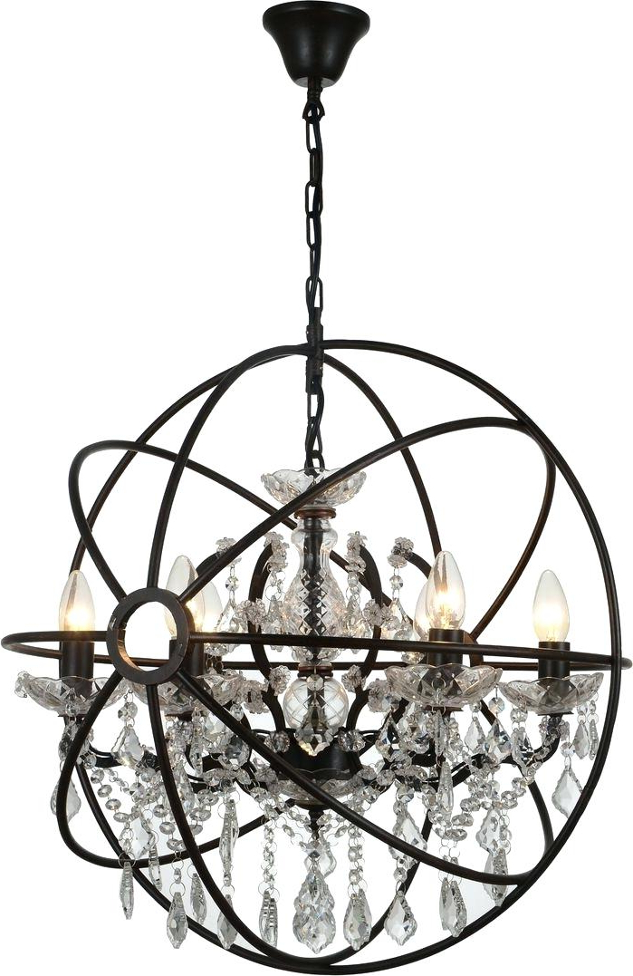 6 Light Globe Chandelier – Luwalcott.co Pertaining To Newest Joon 6 Light Globe Chandeliers (Gallery 7 of 30)