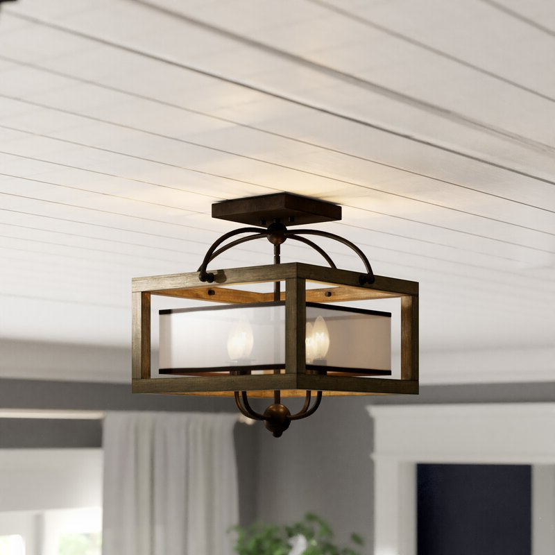 Aadhya 4 Light Square/rectangle Chandelier Regarding Famous Delon 4 Light Square Chandeliers (View 2 of 30)