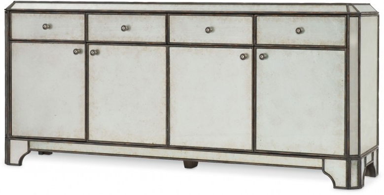 "Abhinav Credenzas Throughout Widely Used Arabella Painted Charcoal 74"" Entertainment Credenza (Gallery 19 of 20)"