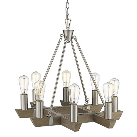 "Acclaim Lighting In11060Sn Finnick 8 Light 24"" Wide Regarding Recent Finnick 3 Light Lantern Pendants (Gallery 23 of 30)"