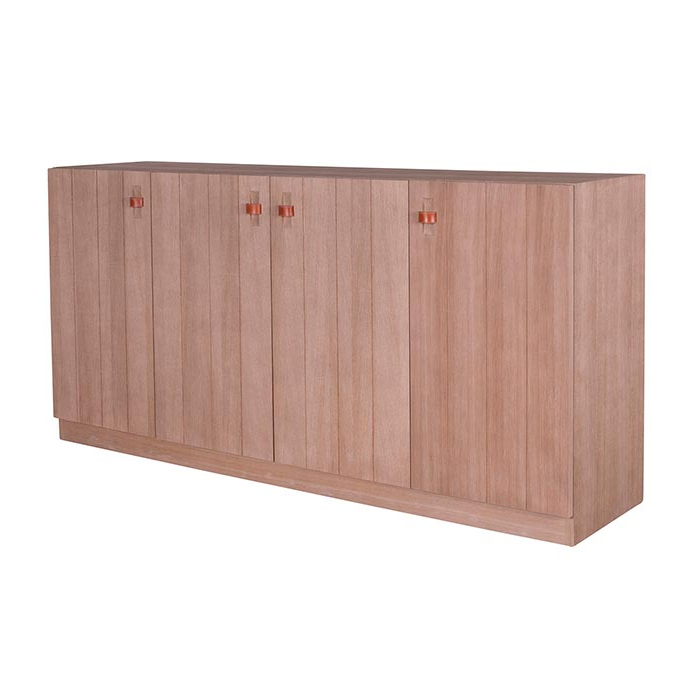 Adkins Sideboards Within Most Popular Elvin – Oak Sideboard, Leather Handles (Gallery 8 of 20)