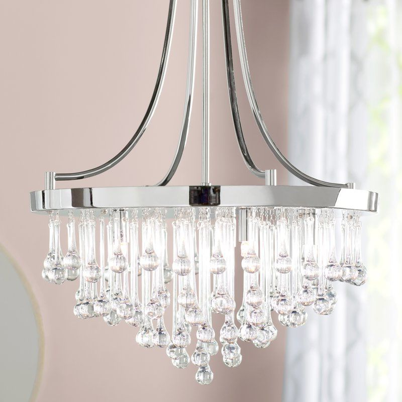Aidan 5 Light Crystal Chandelier In  (View 3 of 30)