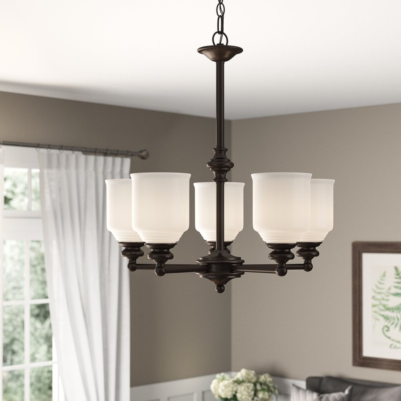 Alayna 4 Light Shaded Chandeliers For Trendy Fanshaw 5 Light Shaded Chandelier (View 6 of 30)