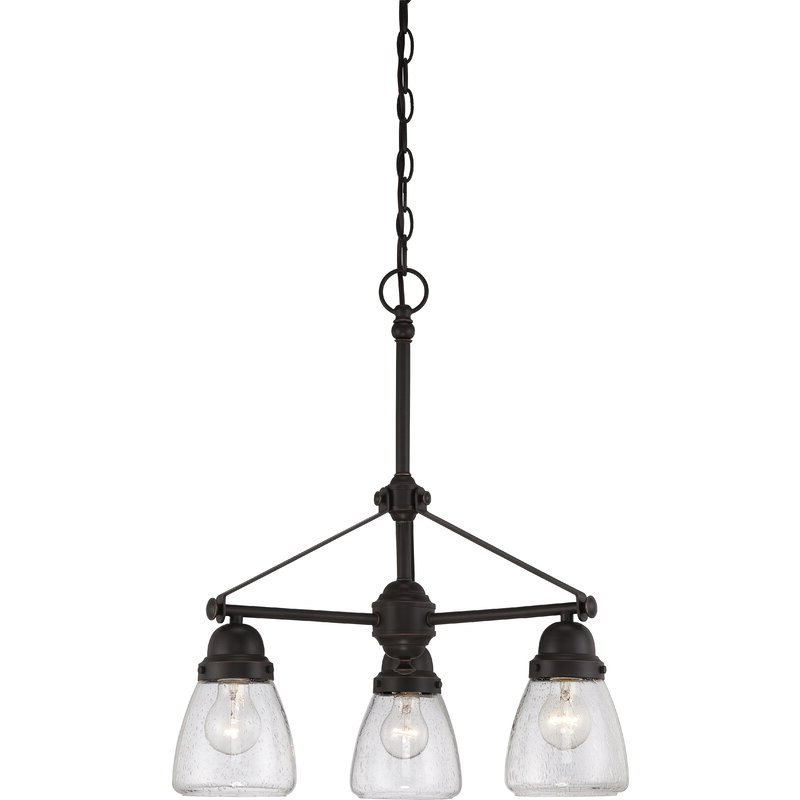 Alayna 4 Light Shaded Chandeliers Pertaining To Favorite Harborcreek 3 Light Shaded Chandelier (View 11 of 30)