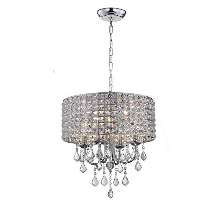 Albano 4 Light Crystal Chandelier Regarding Latest Albano 4 Light Crystal Chandeliers (View 6 of 30)