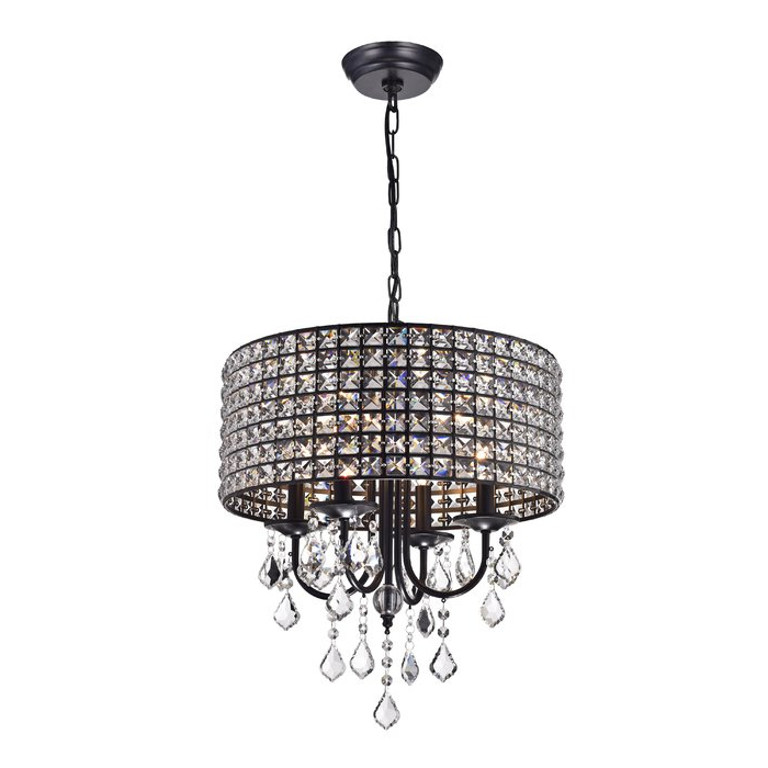 Albano 4 Light Crystal Chandelier Throughout Best And Newest Albano 4 Light Crystal Chandeliers (Gallery 4 of 30)