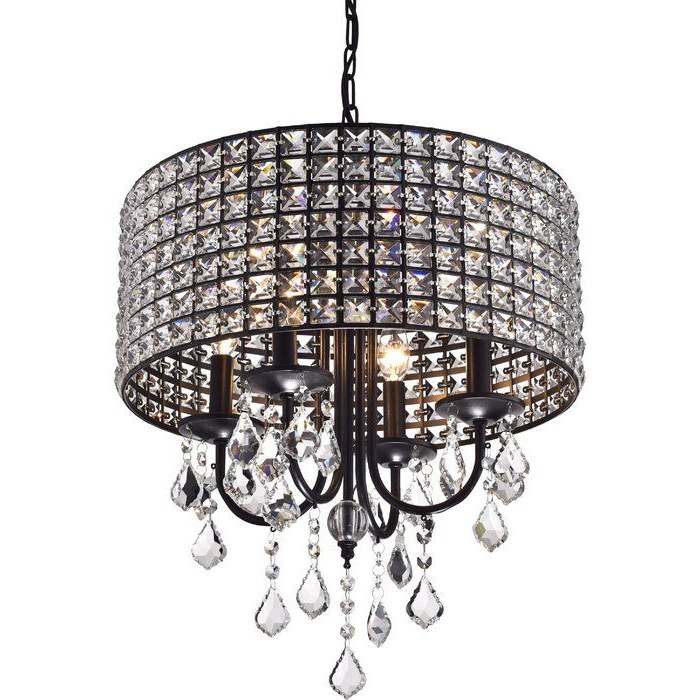 Albano 4 Light Crystal Chandelier (View 3 of 30)