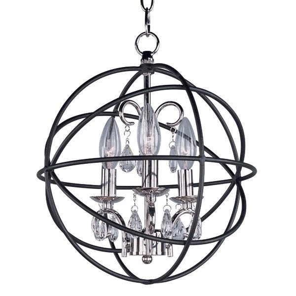 Alden 3 Light Single Globe Pendant Within Famous Alden 3 Light Single Globe Pendants (Gallery 4 of 30)