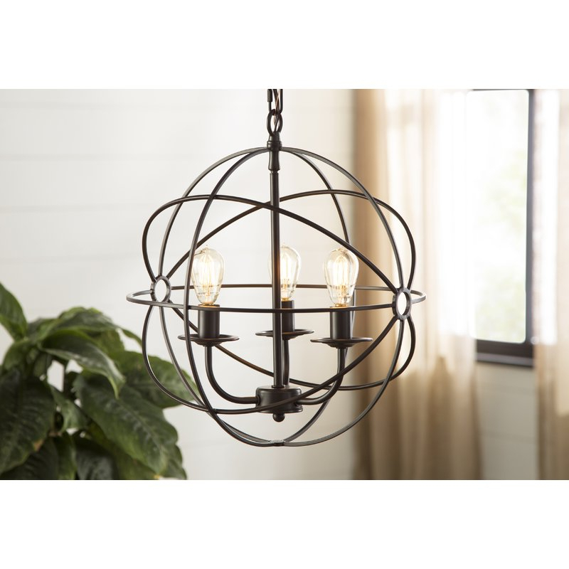 Alden 3 Light Single Globe Pendants With Regard To Preferred Dublin 3 Light Pendant (View 9 of 30)