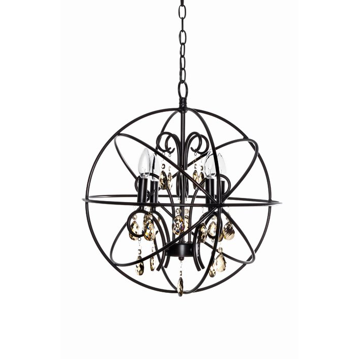 Alden 4 Light Globe Chandelier Within Most Popular Alden 6 Light Globe Chandeliers (View 9 of 30)