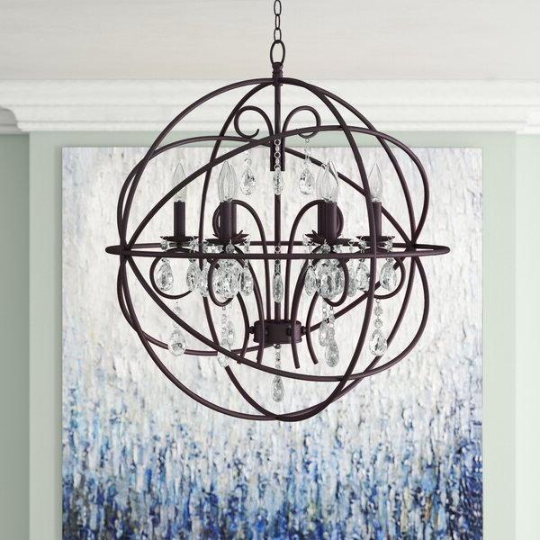 Alden 6 Light Globe Chandelier Intended For Best And Newest Alden 3 Light Single Globe Pendants (Gallery 20 of 30)