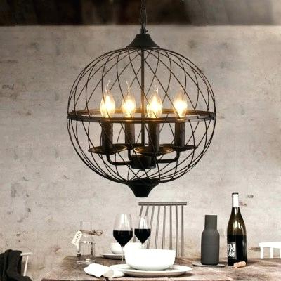 Alden 6 Light Globe Chandeliers Inside Fashionable Globe Light Chandelier – Theflex (View 20 of 30)